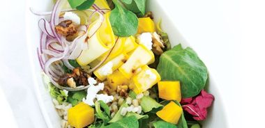 Barley, Vegetables and Candied Nuts Salad