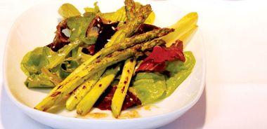 Asparagus with Miso Vinaigrette