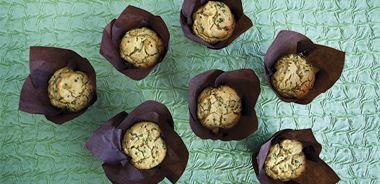 Savoury Green Pea Muffins