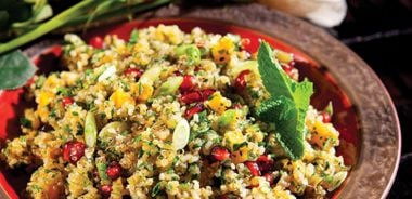 Herbed Quinoa with Dried Apricots and Pomegranate