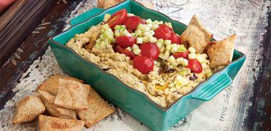 Village Greek Salad Hummus