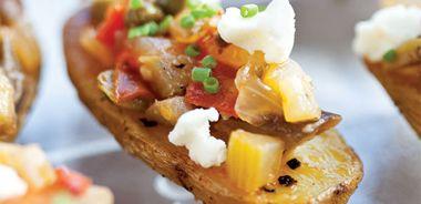 Cumin-Scented Roast Potatoes with Caponata