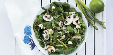 Zesty Lime, Spinach, and Asparagus Salad