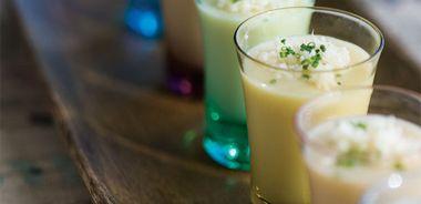 Turnip Soup Shots with Horseradish
