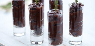 Dark Chocolate and Rosemary Pudding