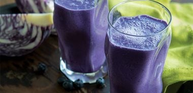 Cabbage Blueberry Smoothie