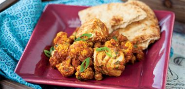 Saucy Halibut and Cauliflower Curry