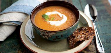 Cool Rockmelon Ginger Soup