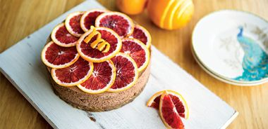 Silky Chocolate Blood Orange Cheesecake