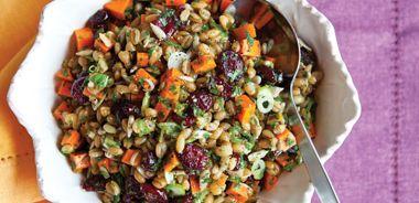Carrot Cranberry Spelt Berry Salad