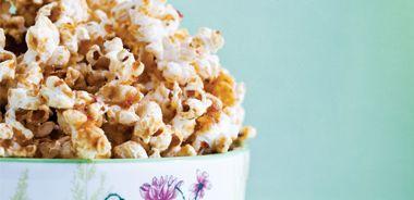 Sticky Maple Date Popcorn