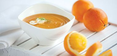 Curry-Kissed Sweet Potato, Fennel, and Orange Soup
