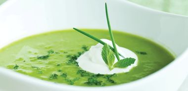 Chilled Pea and Ginger Soup