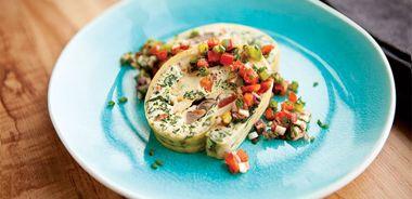 Vegetable Omelette Rolls