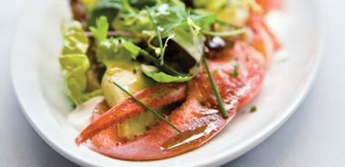 Chilled Lobster Salad with Pink Grapefruit, Avocado, and Citrus Dressing