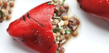 Lentil-Stuffed Piquillo Peppers