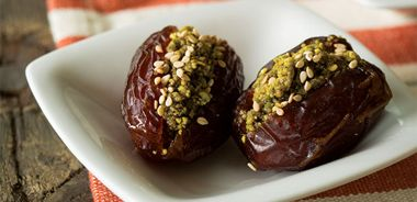 Pistachio and Cinnamon Stuffed Dates