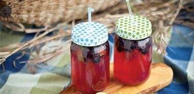 Blueberry and Mint Limeade