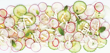 Cucumber Radish Carpaccio Salad