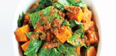 Curried Collard Greens and Sweet Potato