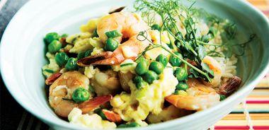 Asian Scrambled Eggs and Shrimp