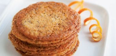 Orange and Poppy Seed Lace Cookies