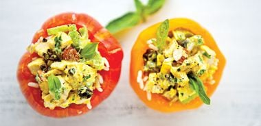 Chicken Salad and Rice Stuffed Tomatoes