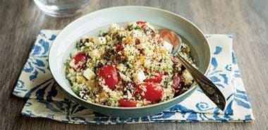 """Mediterranean Cauliflower """"Couscous"""" Salad"""