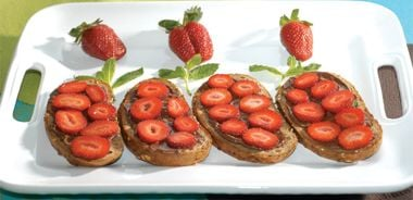 Chocolate and Strawberry Sandwiches