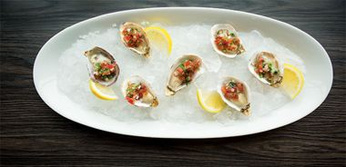 Oysters on the Half Shell with Fresh Tomato Mignonette