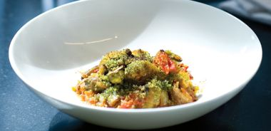 Ratatouille Gratin with Green Herb Crust