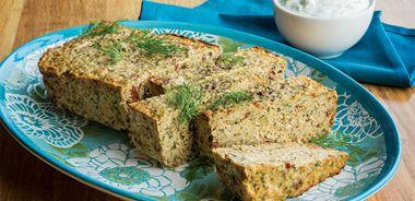 Salmon Loaf with Dill-Yogurt Sauce
