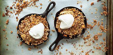 Quinoa Pear Crisp with Vanilla Scented Yogourt