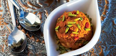 Carrot and Pistachio Halwa