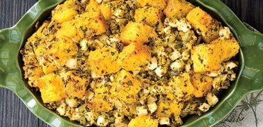 Cornbread Stuffing with Apple and Fennel