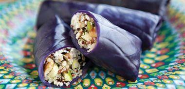 Apple-Quinoa Salad Cabbage Wraps