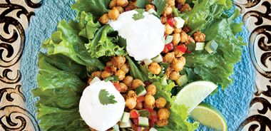 Indian Lettuce Bowls with Balti Paste