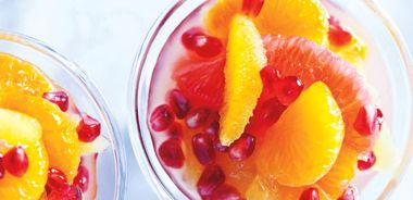 Citrus and Pomegranate Seed Cocktail