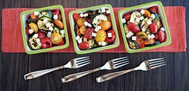 Grilled Zucchini Salad