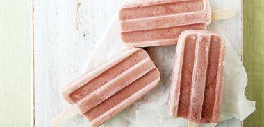 Creamy Strawberry Matcha Pops