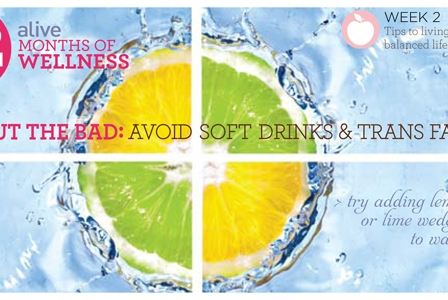 #2013alive: Cut Out the Bad by Ditching Soft Drinks and Trans Fats