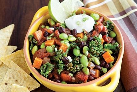 Meatless Monday: Vegetarian Chili with Jewel Yams