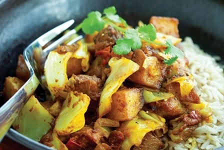 Meatless Monday: Cabbage and Potato Curry