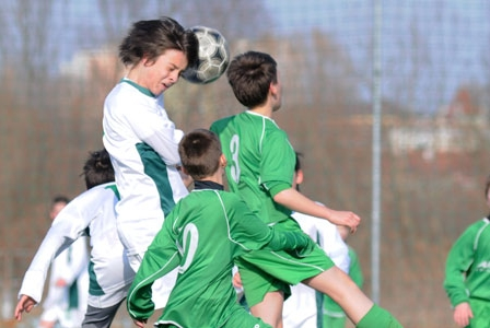 Using your head in soccer