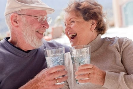 Seniors Benefit From Drinking Water Together