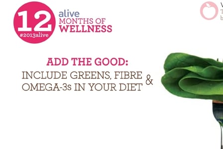#2013alive: Add the Good: Greens, Fibre, and Omega-3s