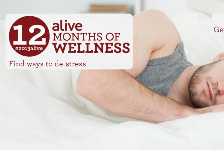 #2013alive: Hit Snooze to De-Stress!