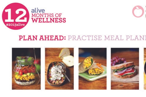 #2013alive: Plan Ahead - Eat Well by Practising Meal Planning