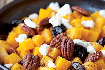 Meatless Monday: Orange Glazed Butternut Herbed Pecans