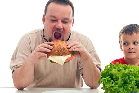 Childhood obesity - blame it on Dad?